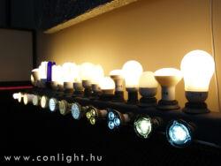 SPOT LED izzók foglalatonkénti bemutatása