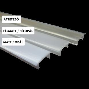 1m félmatt fedő gipszkartonba süllyeszthető 45° profilhoz