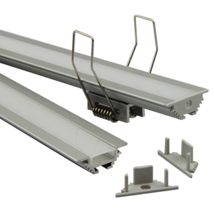 2m matt fedő gipszkartonba süllyeszthető 45° profilhoz