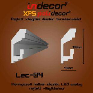 Mennyezeti rejtett világítás díszléc 40x100mm, 2m/szál