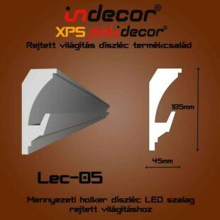 Mennyezeti rejtett világítás díszléc 45x105mm, 2m/szál