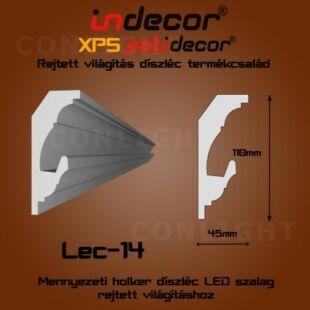 Holker rejtett világítás díszléc 110x45mm, 2m/szál