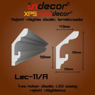 Holker rejtett világítás díszléc 95x55mm, 2m/szál
