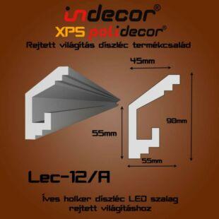 Holker rejtett világítás díszléc 55x90mm, 2m/szál