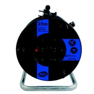 GAO Kábeldob, műanyag 25m, 4 dugalj 3x1.5 ; 250V, 16A, 25m, H05VV-F 3x1.5 mm², IP20