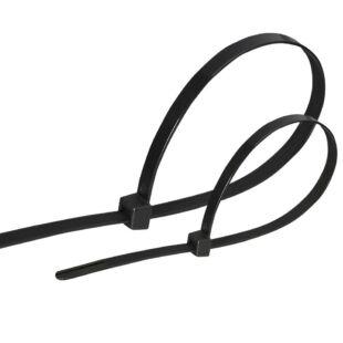 GAO Kábelkötegelő, 200x4.6mm, fekete, 25db