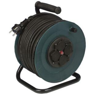 GAO Kábeldob, kültéri, műanyag, 40m, 4 dugalj 3x1.0 H05RR-F; 250V, 16A, 40m, H05RR-F 3x1.0mm² , IP44