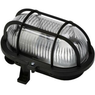 GAO Hajólámpa, ovális, műanyagráccsal 60W, fekete