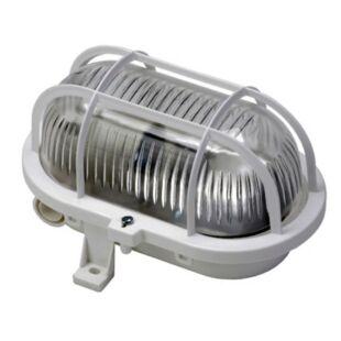 GAO Hajólámpa, ovális, műanyagráccsal 60W, fehér