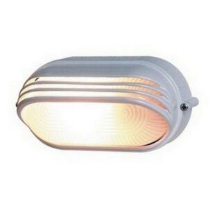 GAO Hajólámpa, ovális, félig fedett, alumíniumráccsal 60W, fehér