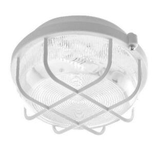 GAO LED hajólámpa, kerek, műanyagráccsal fehér, átlátszó üvegbúrával, 220-240V, 5W, 4000K, IP44