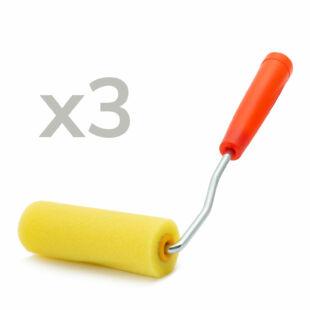 Lakkozó henger -  3 db henger + nyél / csomag