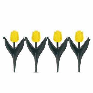Virágágyás szegély - sárga tulipánokból