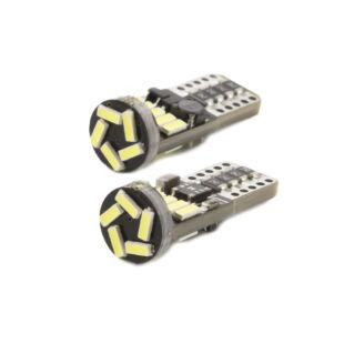 Autós LED - CAN127 - T10 (W5W) - 150 lm - can-bus - SMD 3W - 2 db / bliszter