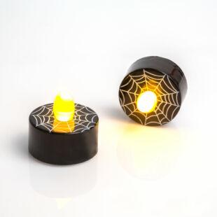 LED teamécses - Halloween, fekete - 2 db / csomag
