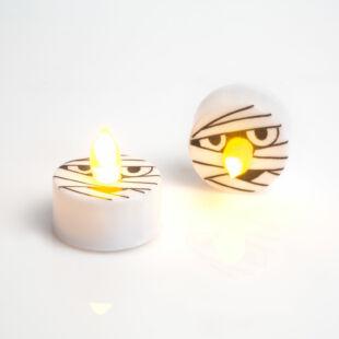 LED teamécses - Halloween, múmia - 2 db / csomag