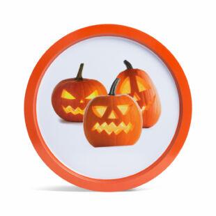 Halloween-i tálca - tök - fém - 31 cm