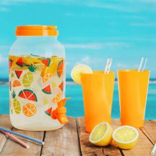 Italadagoló csappal, műanyag pohárszettel