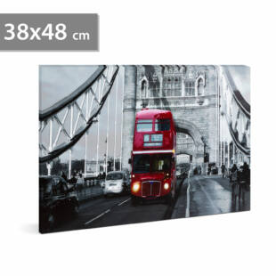"LED-es fali hangulatkép - ""London Bus"""