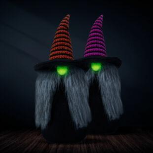 Foszforeszkáló skandináv manó - Halloween - 2 féle - 35 cm
