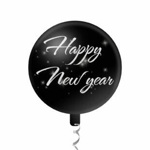 "Lufi - ""Happy New Year"" - 45 cm - ezüst"