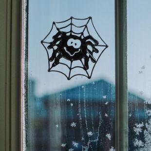 Öntapadós ablakmatrica - pók