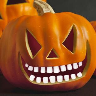Halloween-i töklámpás fogak - 18 fog / csomag