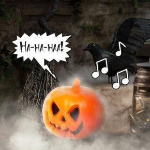 Halloween-i töklámpás - LED-del, hangeffekttel