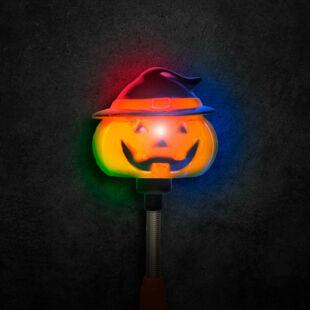 Halloween-i LED lámpa - rugós tök - elemes