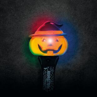 Halloween-i LED lámpa - tök - elemes