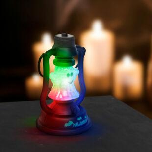 Halloween-i LED lámpa kacagás hangeffekttel - szellem - elemes