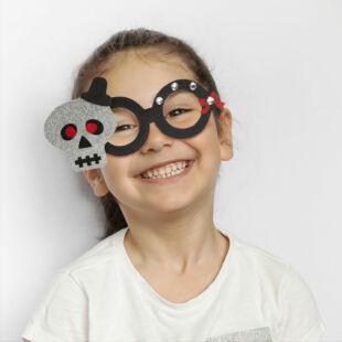 Halloween-i party szemüveg - csillogó koponya