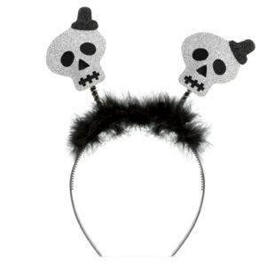 Halloween-i hajráf - csillogós koponya