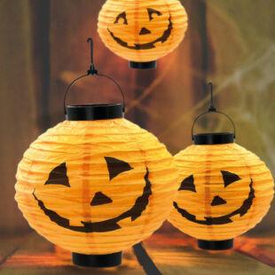 Halloween-i szolár lampion - tök - ⌀20 cm