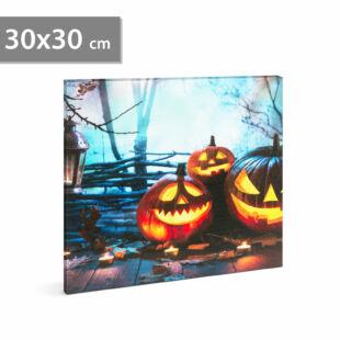 Halloween-i LED-es hangulatkép - fali akasztóval, 2 x AA, 30 x 30 cm