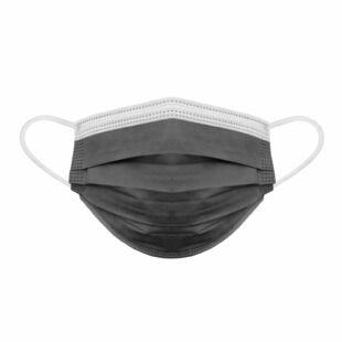 Szájmaszk - 3 rétegű Fekete 10 darabos kiszerelés