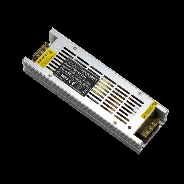 250W SLIM fémházas LED tápegység