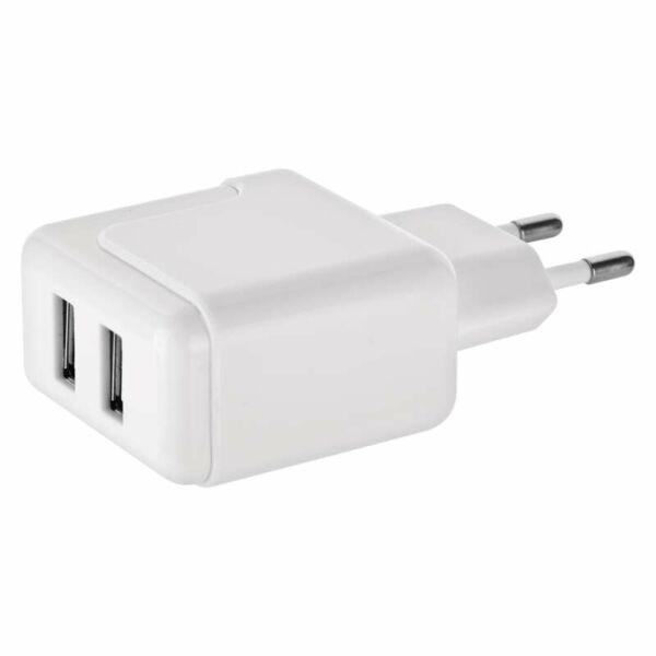 UNIVERZÁLIS USB TÖLTŐ 3.1A+MICRO USB KÁBEL+ÁTALAKÍTÓ USB-C