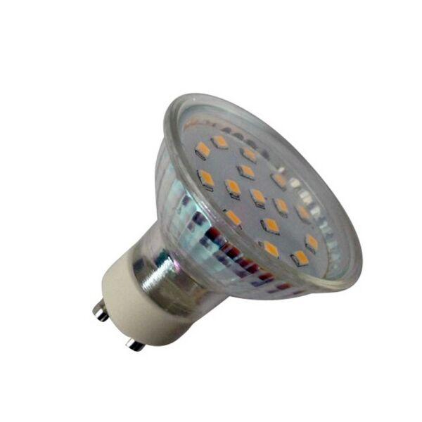 GAO LED fényforrás, GU10, 4.0W 230V, GU10, 350lm, 110°, 3000K, 4.0kW/1000h, IP20, EEK:A+