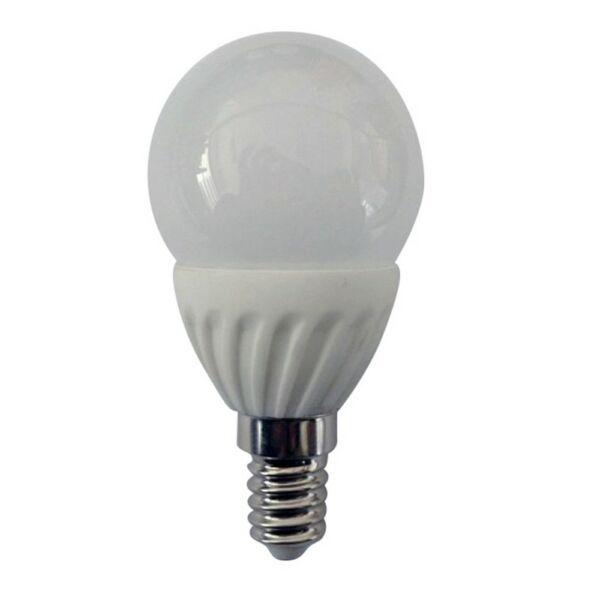 GAO LED fényforrás, E14, gömb, 5.0W 230V, E14, 400lm, 180°, 3000K, 5.0kW/1000h, IP20, EEK:A+