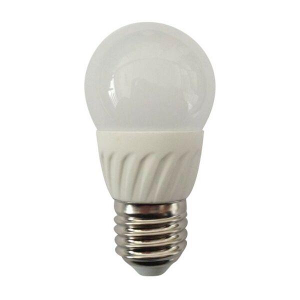 GAO LED fényforrás, E27, gömb, 5.0W 230V, E27, 400lm, 180°, 3000K, 5.0kW/1000h, IP20, EEK:A+