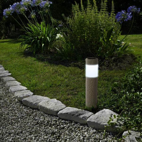 LED-es szolár lámpa - kőmintás - műanyag
