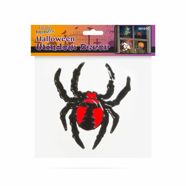 Halloween-i ablakdekor - pók